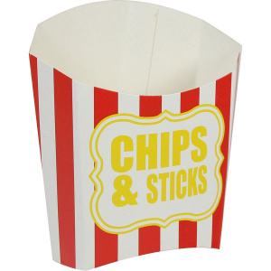 Amscan party box Chips & Sticks paper red/white