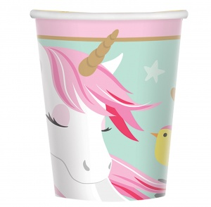 Amscan party cups unicorn 8 pieces 266 ml