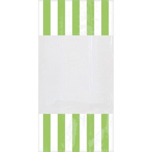 Amscan party bags stripe 24 cm 10 pieces green