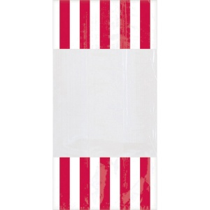 Amscan party bags stripe 24 cm 10 pieces red