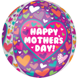 Amscan folieballon Happy Mother's Day! 38 x 40 cm paars