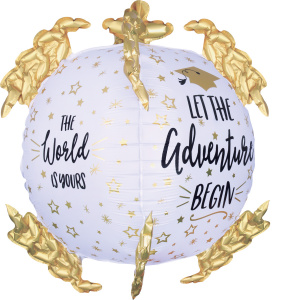 Amscan folieballon The World Is Yours 73 x 50 cm wit/goud