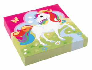 Amscan napkins unicorn girls 33 cm paper 20 pieces