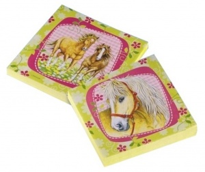 Amscan napkins horses 33 cm paper 20 pieces yellow