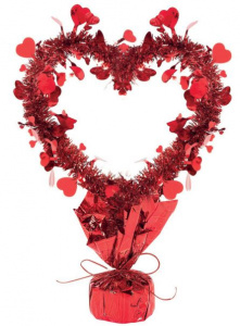 Amscan table decoration hearts 35,5 cm foil red