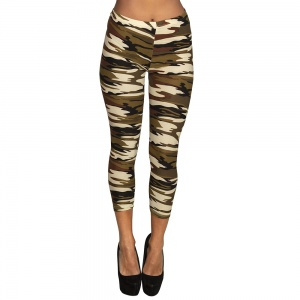 Boland 3/4 legging army ladies size M