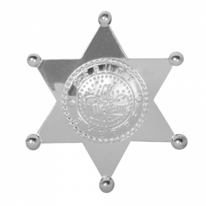 Boland badge Deputy Sheriff polypropyleen zilver