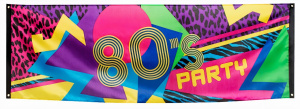Boland banner 80's-party 74 x 220 cm polyester