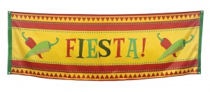 Boland banner Mexico Fiesta 74 x 220 cm rood/geel