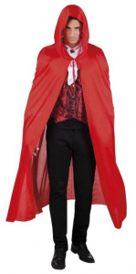 Boland hooded cape Dusk polyester red one-size
