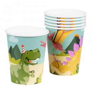 Boland party cup dino junior 25 cl cardboard 6 pieces