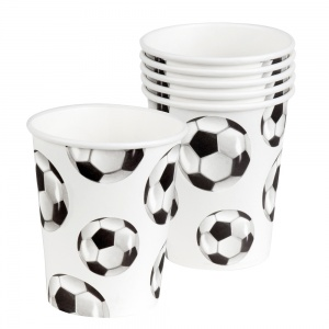 Boland party cups football 6 pieces 25 cl