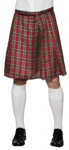 Boland kilt Mr Tartan heren rood one size