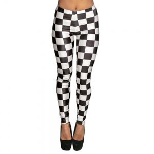 Boland legging racing ladies black/white