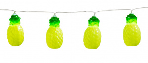 Boland light cord pineapples 140 cm polystyrene yellow/green
