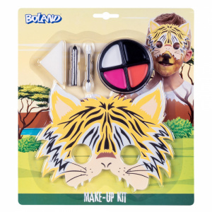 Boland makeup kit Tijgertje cardboard yellow 4-piece