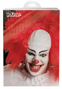 Boland pruik horror clown polyetheen rood