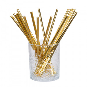 Boland straws 20 cm paper gold 20 pieces