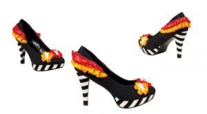 Boland schoenen Day of the Dead dames polyester zwart/wit