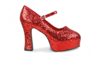 Boland schoenen glitters dames polyester rood