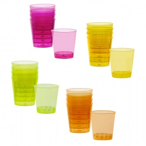 Boland shot glasses neon colors 20 pieces