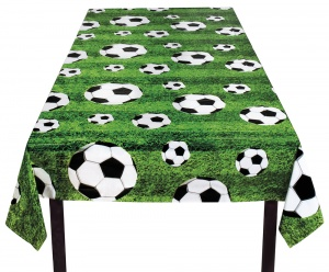 Boland tablecloth football 120 x 180 cm green