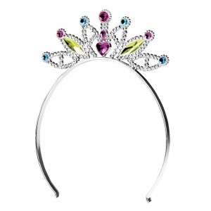 Boland tiara Mabel meisjes zilver one size