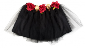 Boland tutu Day of the Dead dames polyester zwart one-size