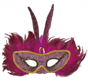 Boland verkleedmasker Cockatoo Queen dames roze one size