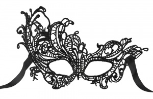 Boland disguised mask side Masquerade ladies black one size