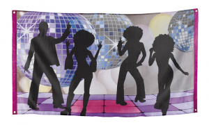 Boland vlag disco dansers polyester  150 x 90 cm