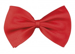 Boland bow tie Basic men 10 cm red