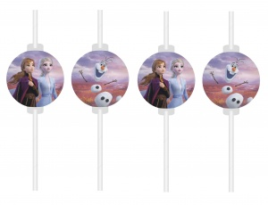 Disney straws Frozen 2 24 cm 4 pieces multicolor