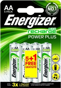Energizer Recharge Power Plus AA-batterijen 2000mAh 6 stuks