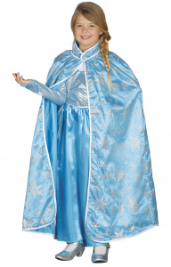 Fiestas Guirca cape IJsprinses junior polyester blauw one-size