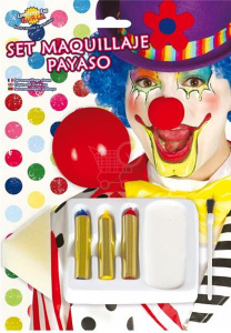 Fiestas Guirca schminkset clown junior wit 6-delig