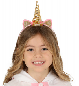 Fiestas Guirca tiara Unicorn girls polyester gold/pink one-size