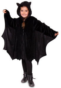 Folat cape vleermuis junior polyester zwart one-size