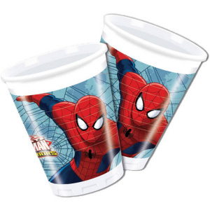 Folat party cups Spider-Man junior 200 ml red/blue 8 pieces