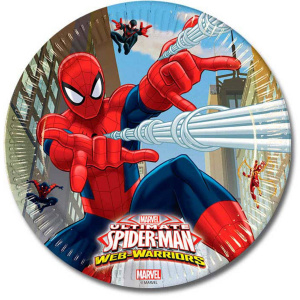 Folat party board Spider-Man junior 23 cm cardboard 8 pieces