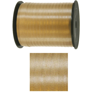 Folat feestlint 5 mm polyester goud 500 meter