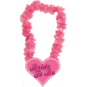 Folat krans Bride To Be dames 69 cm polyester roze
