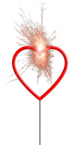 Folat star heart 30 cm iron wire red