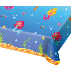 Folat tablecloth mermaid girls 130 x 180 cm blue
