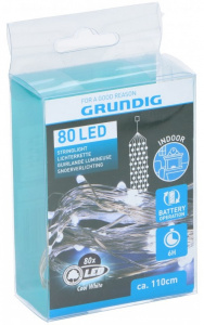 Grundig kerstverlichting led 1,1 meter rubber 80 led wit