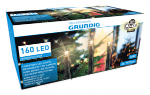 Grundig christmas lights led 18 meters yellow 160 pcs