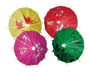 Haza Original ice parasols assorted 12 pieces