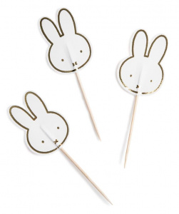 Haza Original prickers Miffy junior wood white 8 pieces