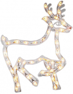 Konstsmide window decoration reindeer led 40 x 50 cm white