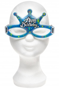 LG-Imports glow glasses Happy Birthday blue